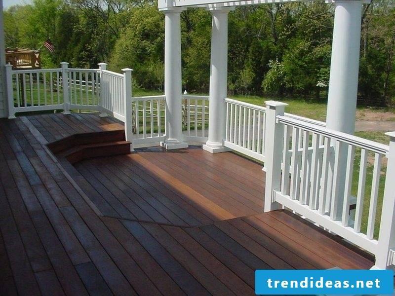 terrace railing wooden