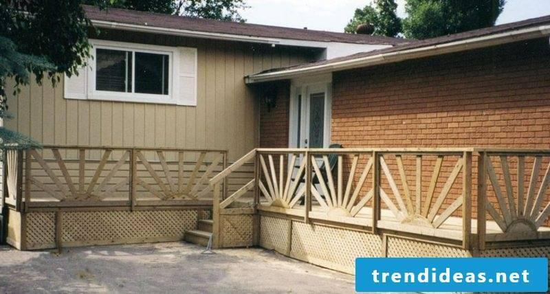 patio railing wood deck railings