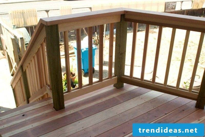 patio railing wood deck railing ideas