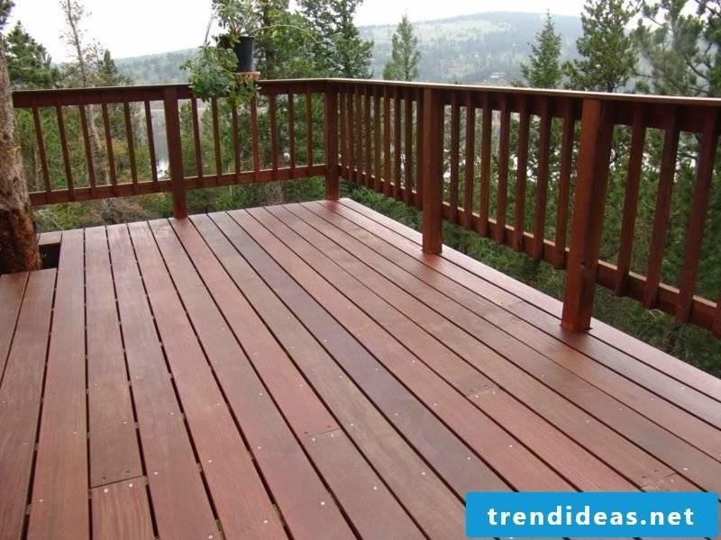 patio railing wood deck