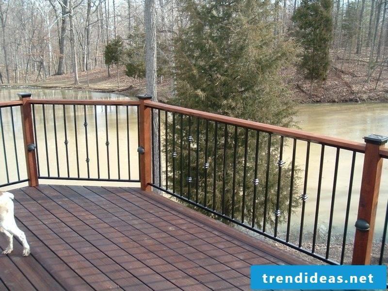 patio railing metal railings