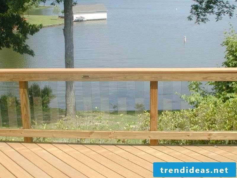 patio railing glass railing on lake