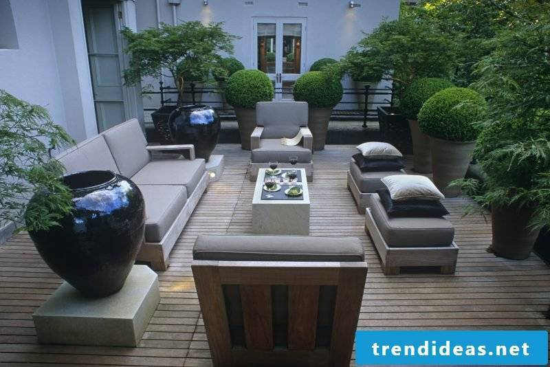 Shade plants terrace