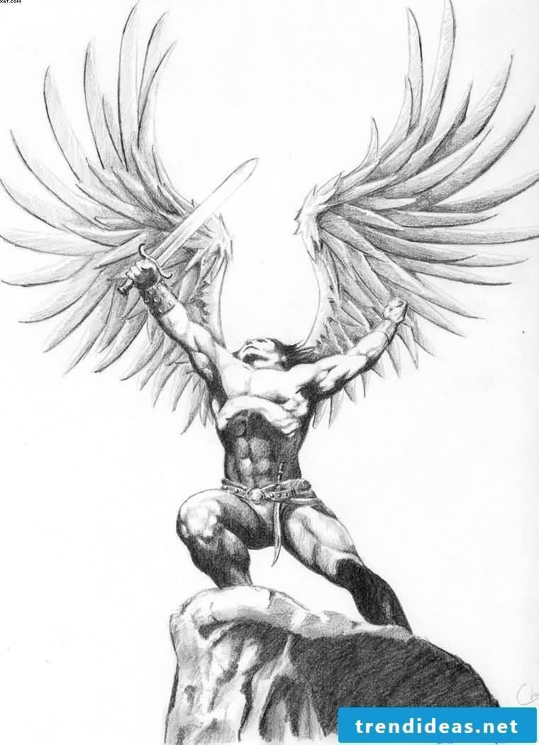 Angel tattoos graphic