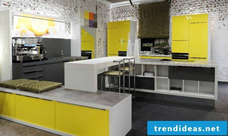Kitchen brands Nolte yellow