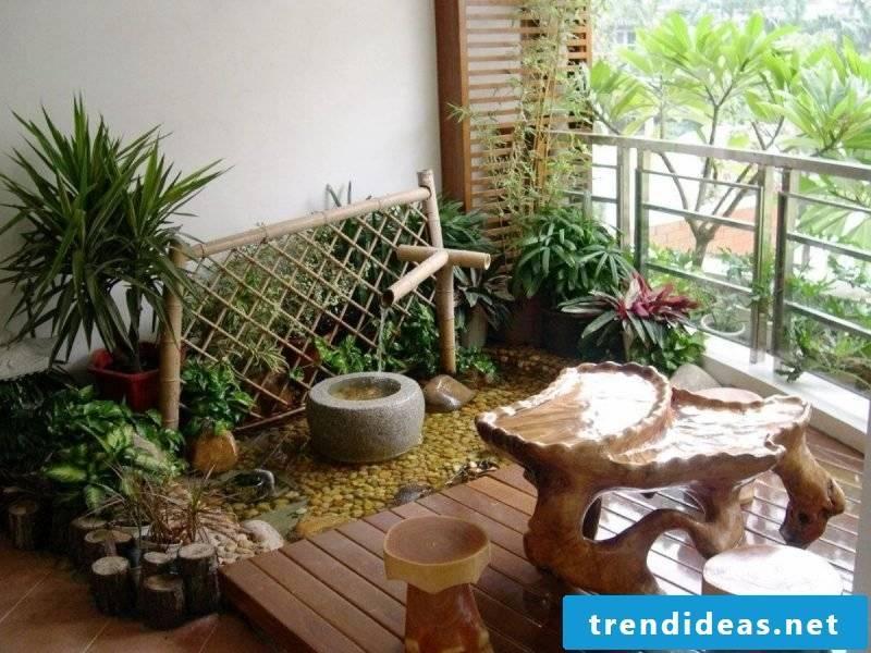 DIY garden terrace decoration