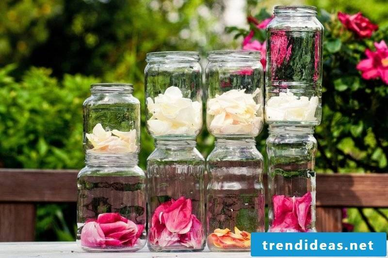 Decorations for terraces and garden ideas for little money