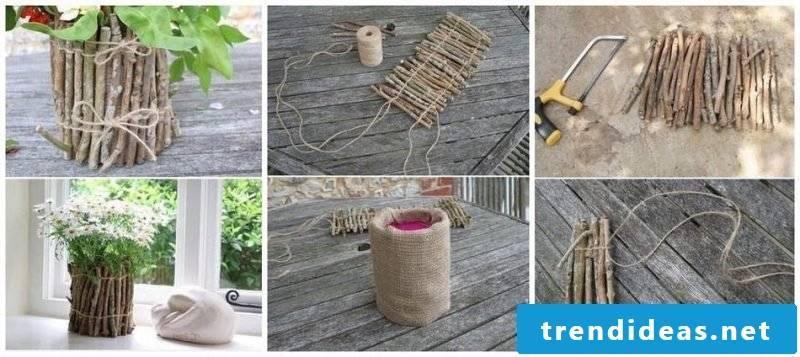 DIY instructions make flower pot yourself
