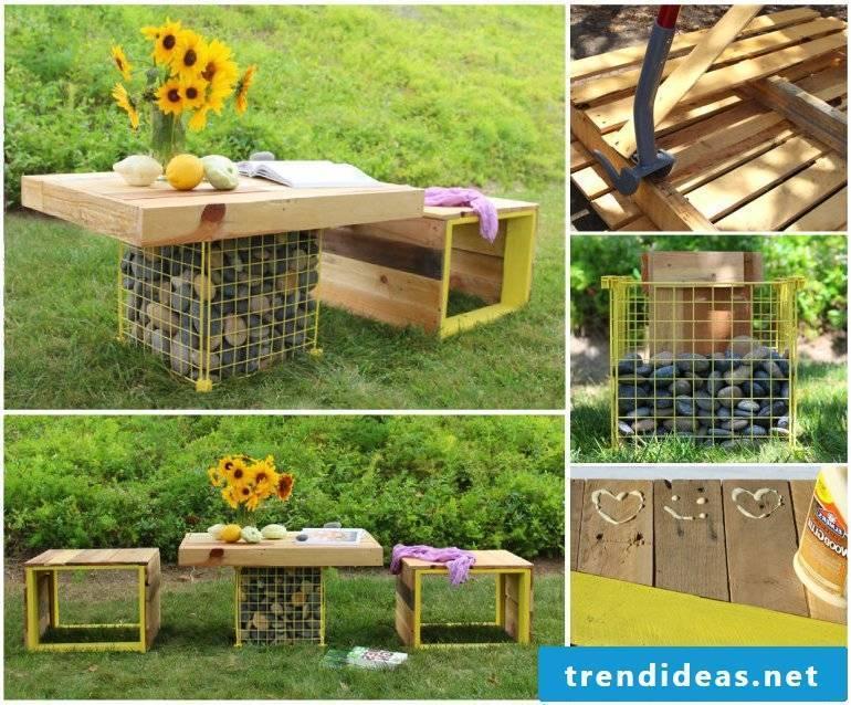 DIY table small gardens frame
