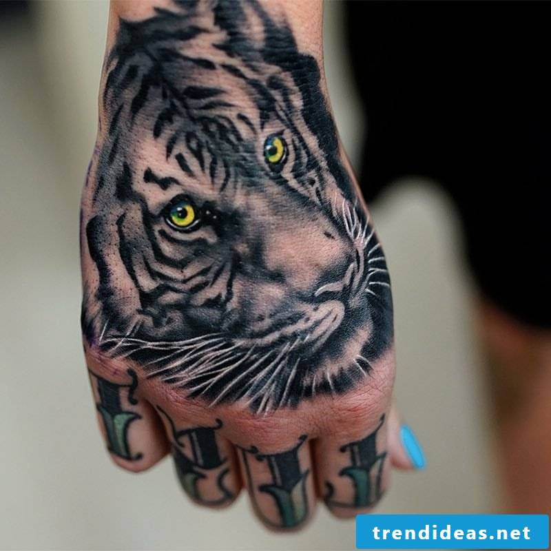 tiger tattoo ideas hand tattoos women tattoos men