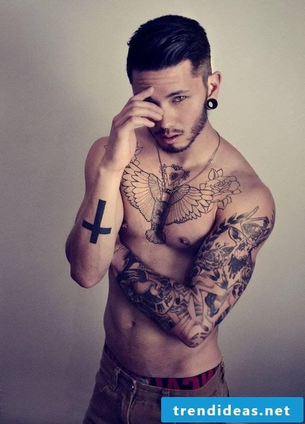 tattoo motifs men cross arm tattoo ideas tattoos men