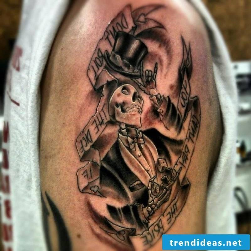 tattoo ideas dead dance skull black tattoos men