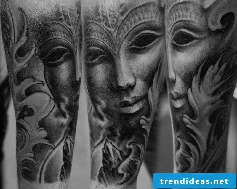 tattoo ideas head eyes portrait tattoos men