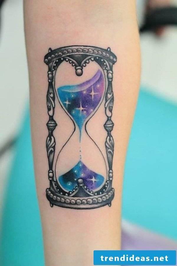 hourglass cool tattoo ideas women tattoos men arm