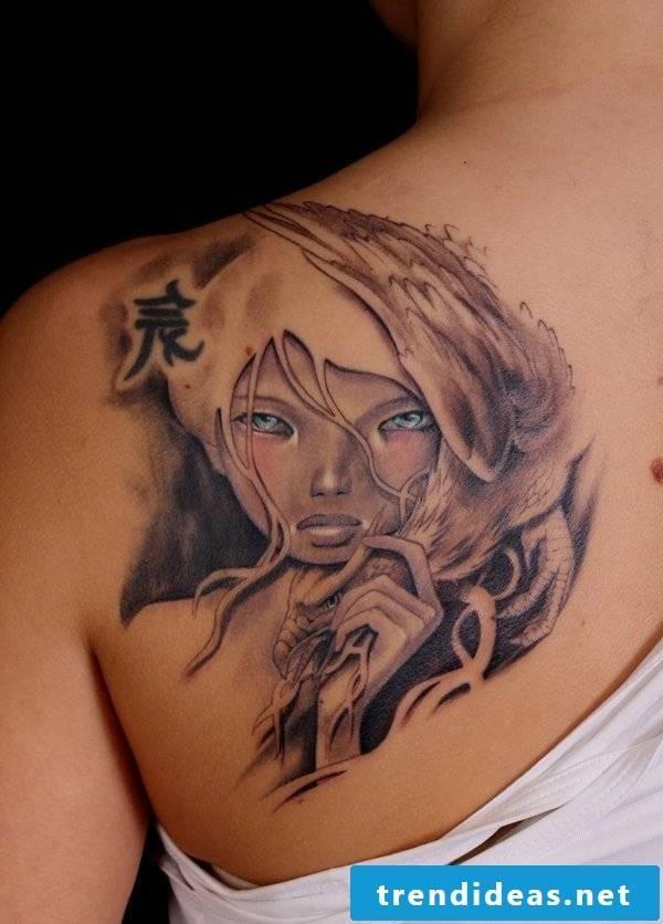 back portrait cool tattoo ideas women tattoos