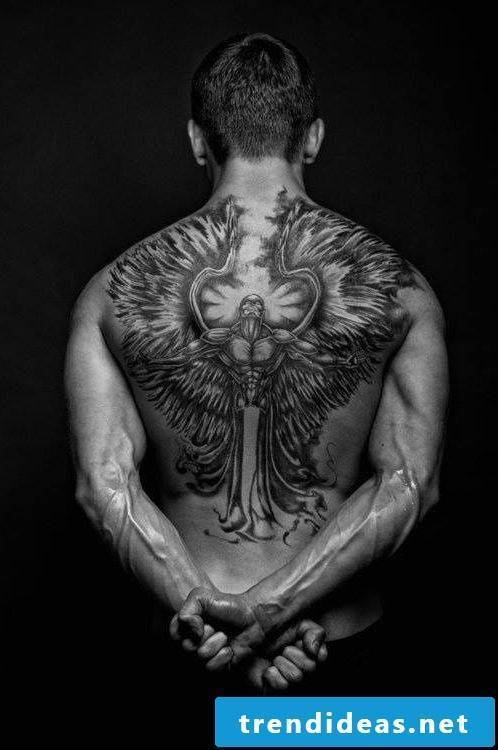 fighter angel tattoo ideas tattoos men