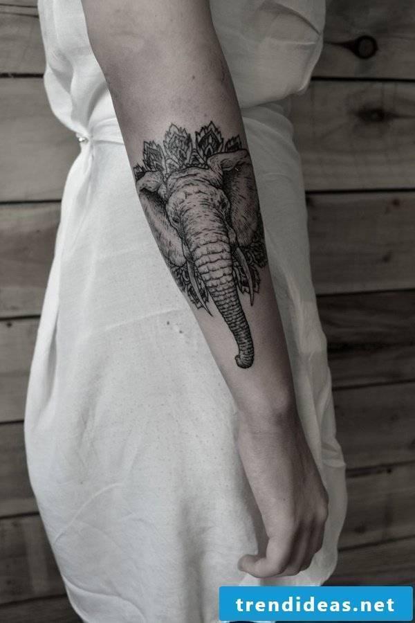 elephant tattoos women tattoo ideas women