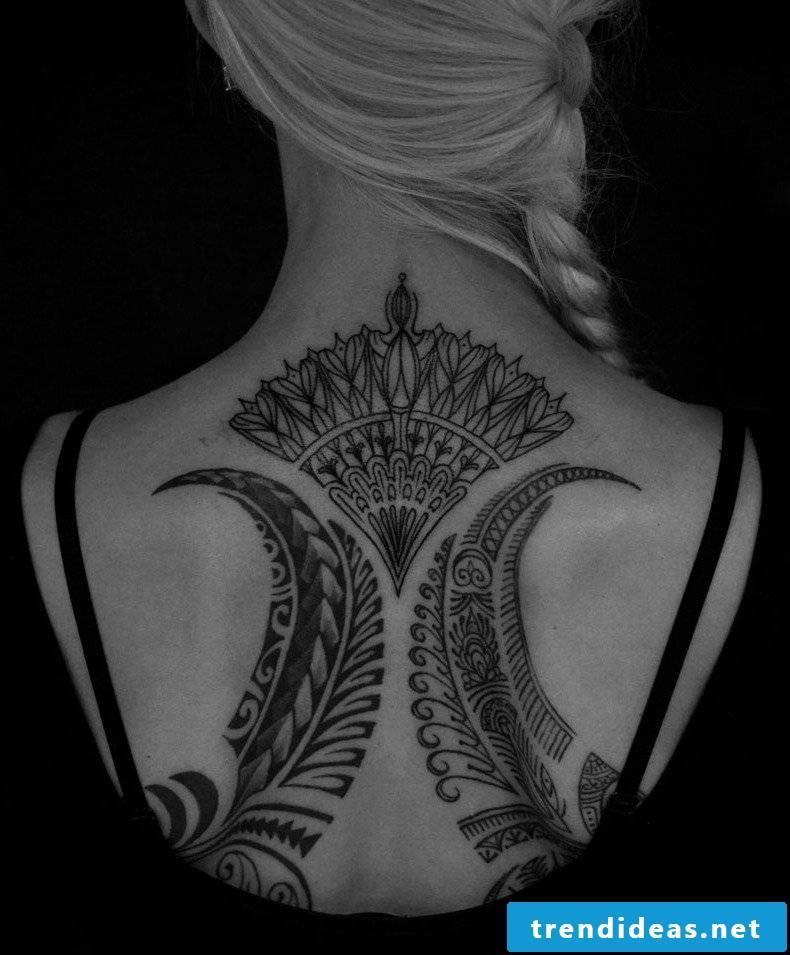 back tattoos women abstract tattoo motifs women