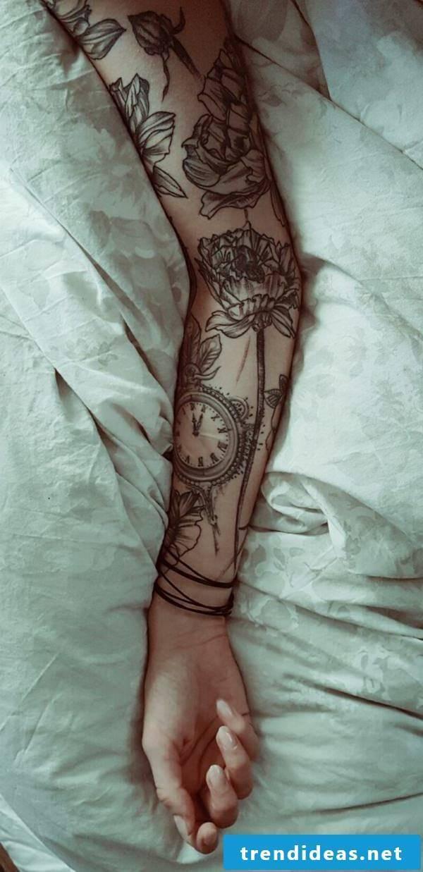 floral tattoo motifs women sleeve tattoos women