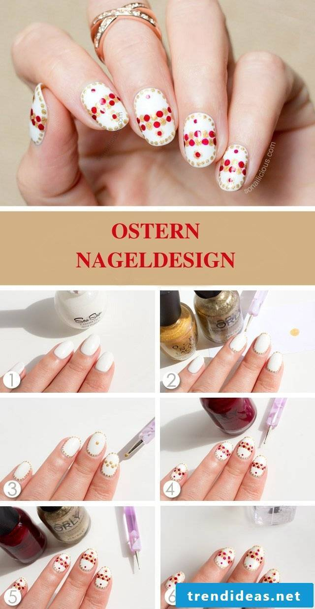 Easter nail design Aneltiung