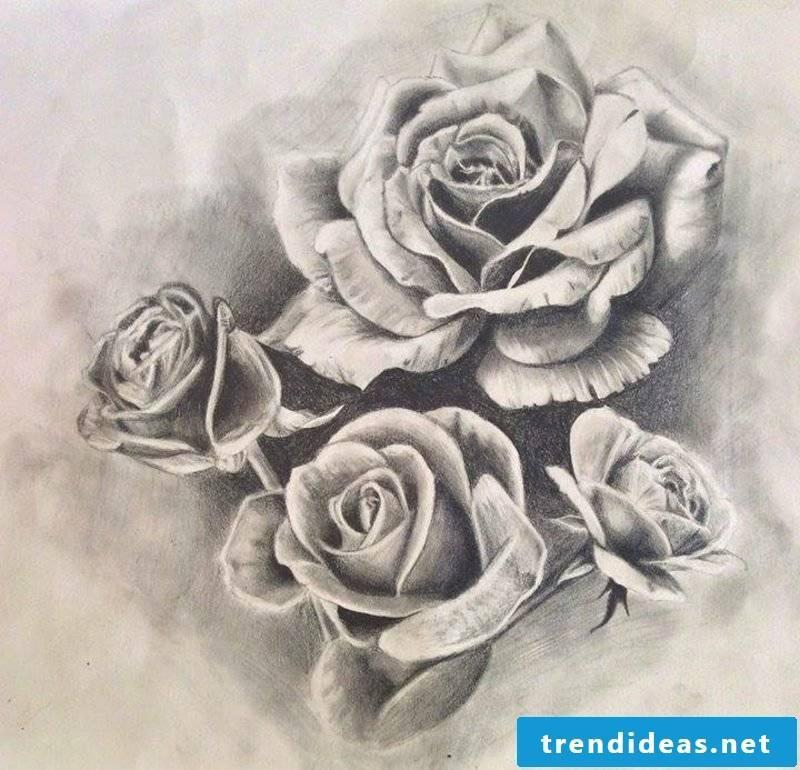 Roses tattoo template original tattoos for women