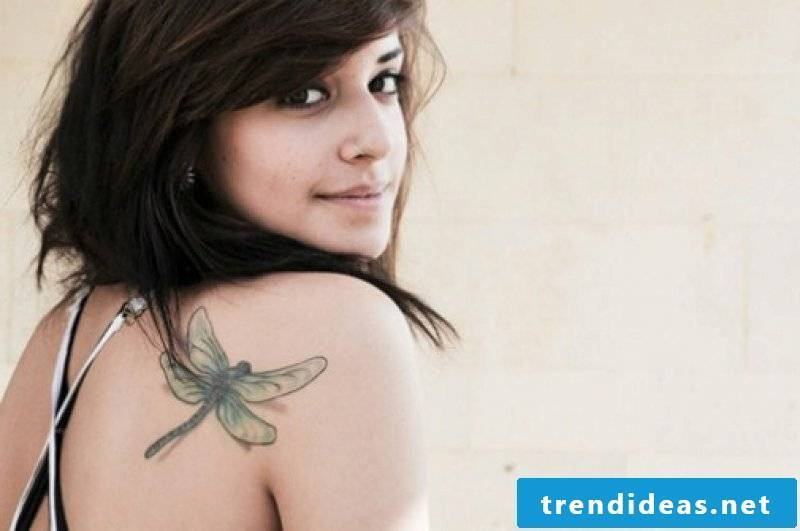 Dragonfly tattoo on the shoulder Ideas and inspirations
