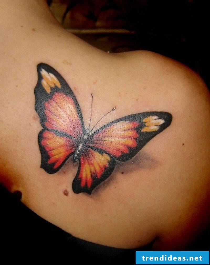 Tattoo monarch butterfly