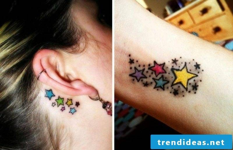 colored tattoo starlet