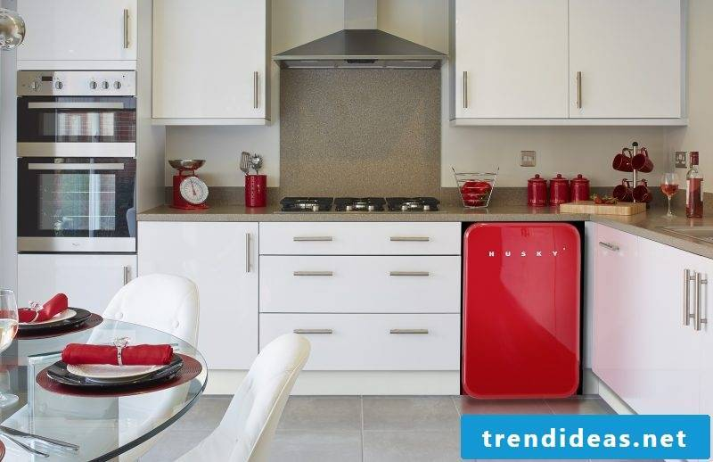 Bosch Retro Refrigerator Red White