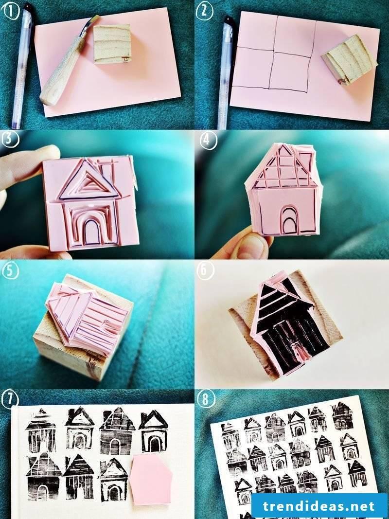 Stamp yourself make house
