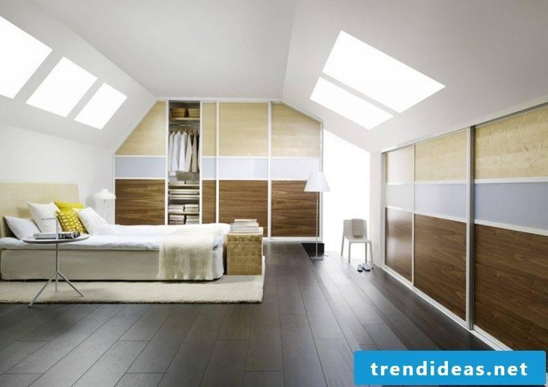 Built-in wardrobe roof bedroom