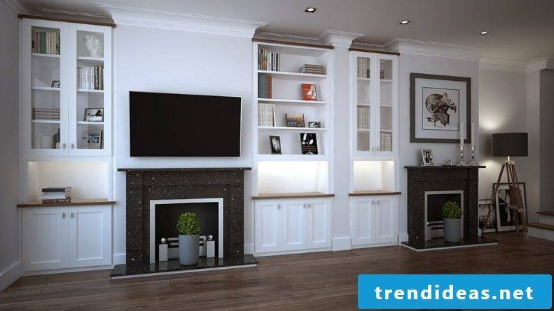 Built-in TV wall