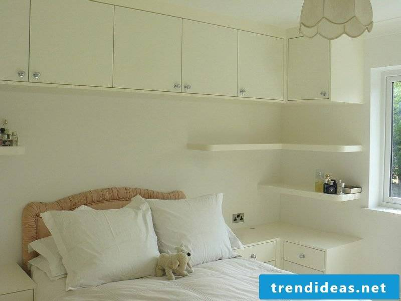 Built-in wardrobe over bed