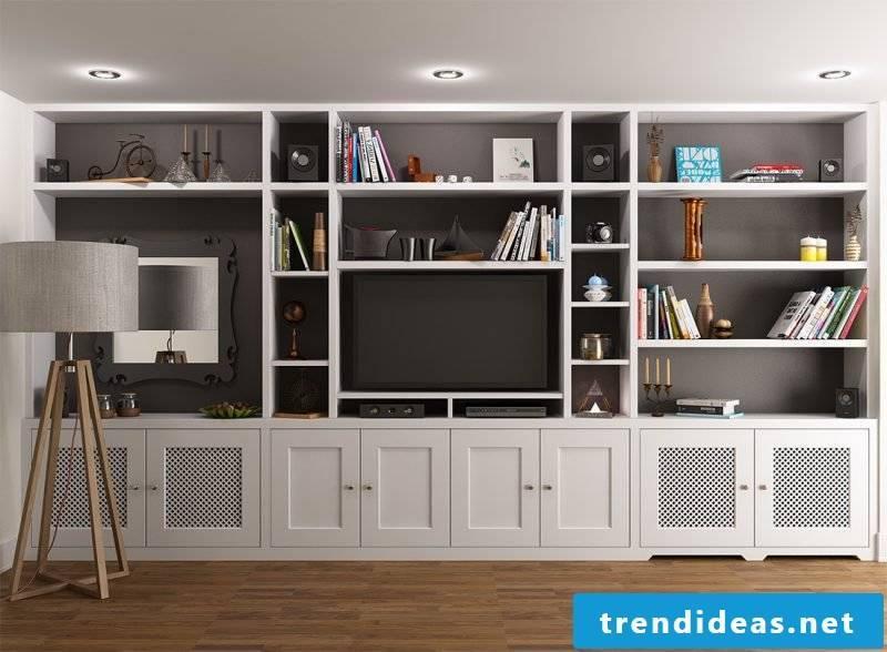 Built-in wardrobe shelf