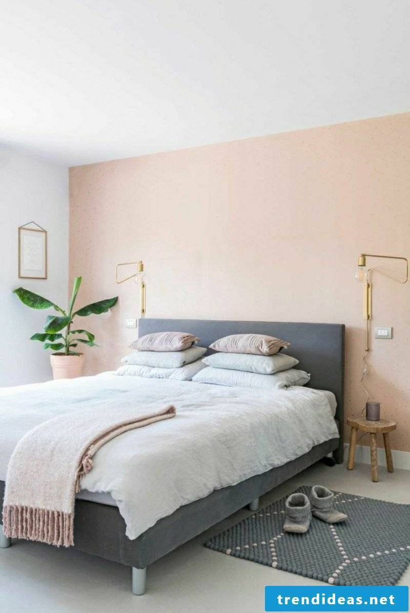 Bedroom ideas wall design pastel colors