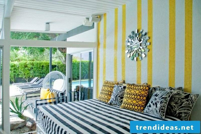 Living ideas bedroom modern decor striped pattern as an accent