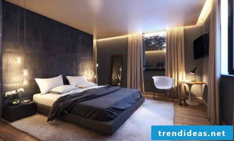 Bedroom modern interior design indirect lighting
