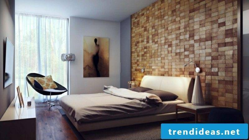 modern bedroom wall decoration picture comfortable bed