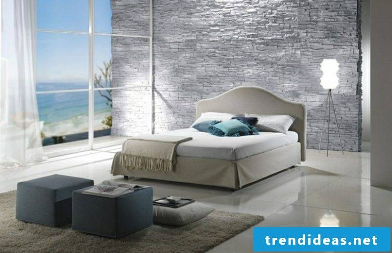 Bedroom design flooring tiles natural stone wall