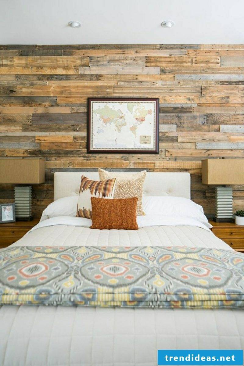 Bedroom modern decor accent wall wood