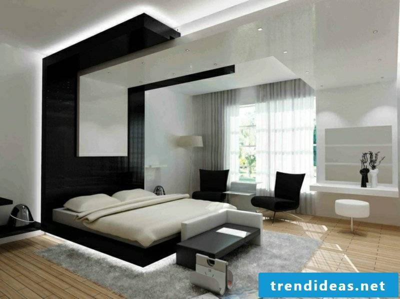 Bedroom modern indirect lighting accent wall