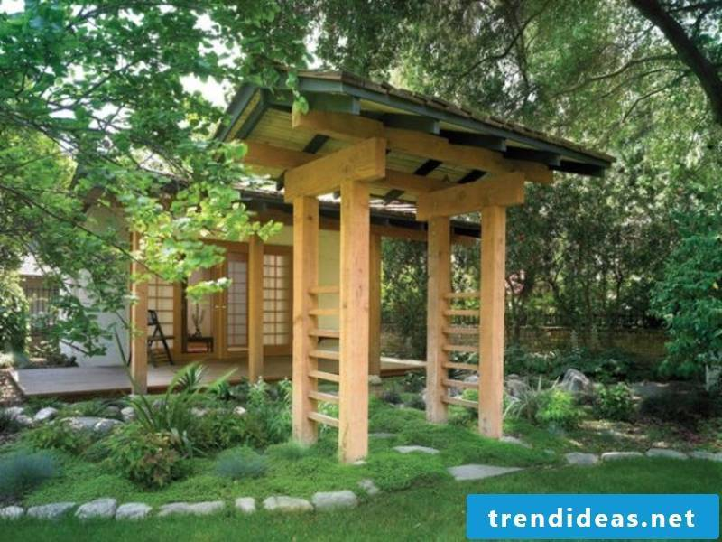 Stones in the Japanese garden