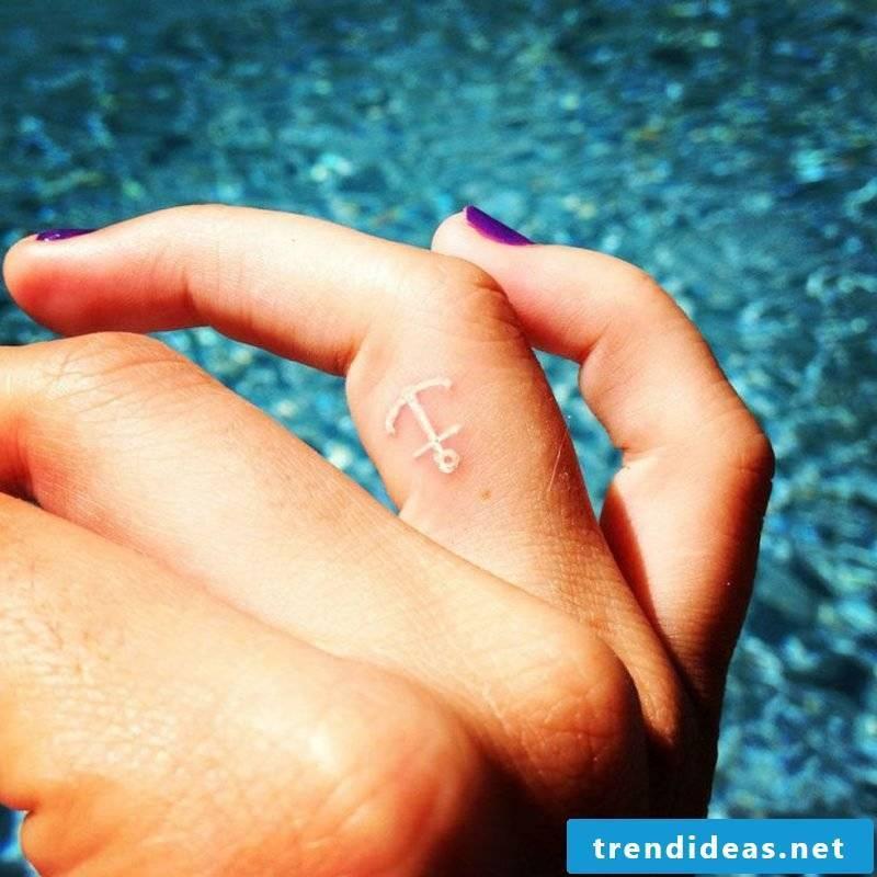 Finger tattoo anchor