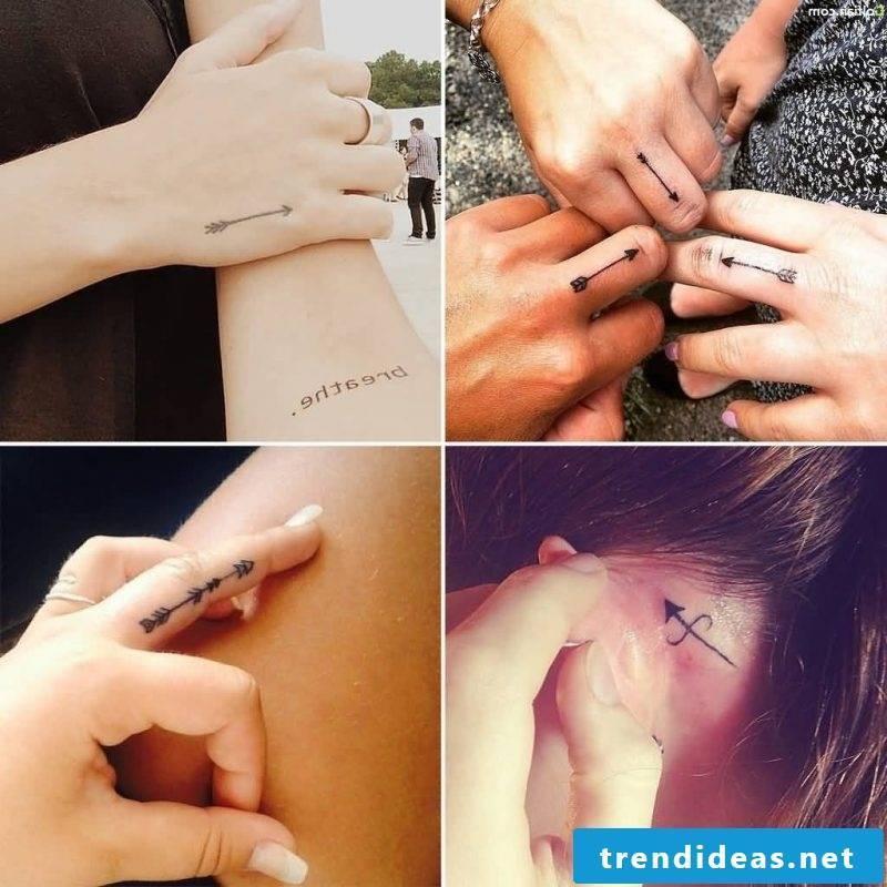 Finger tattoo arrow