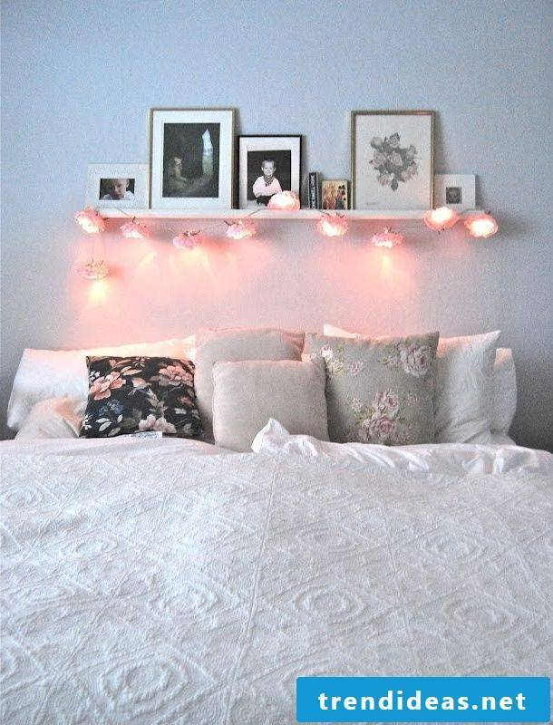 flowers decorating lamps as decoration bedroom decorating ideas