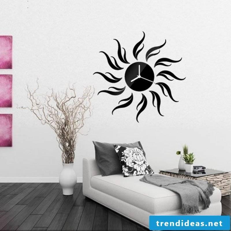 decorating ideas black wall clock dkeoration flat decorate
