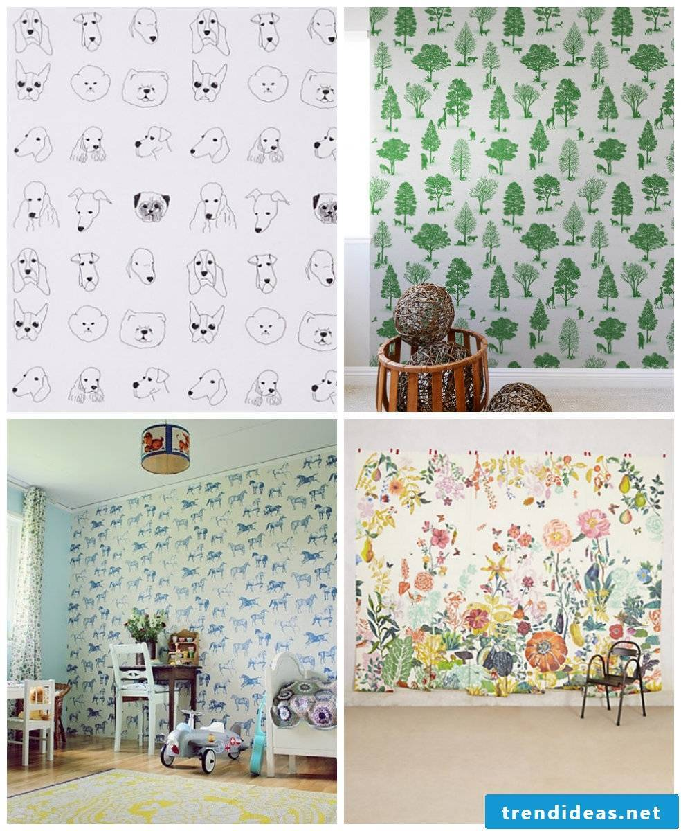 Four funny ideas for kids wallpapers