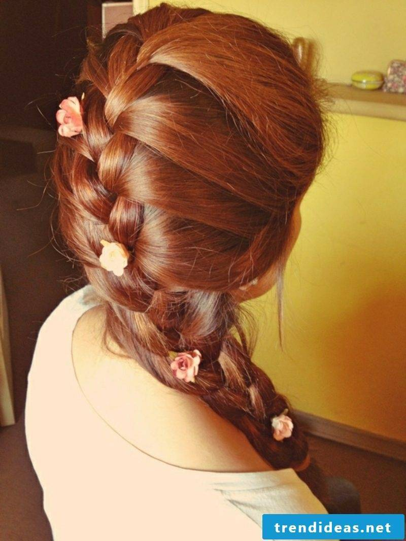 simple braids for medium length hair Octoberfest