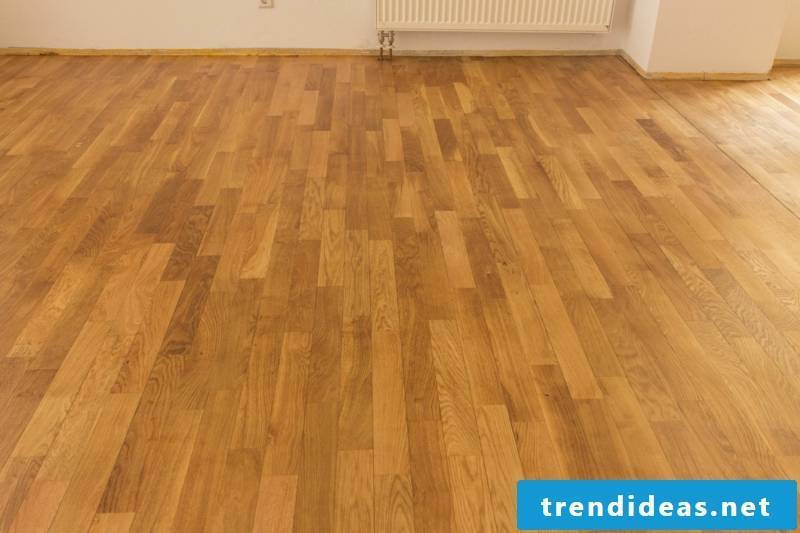 Wood parquet as flooring