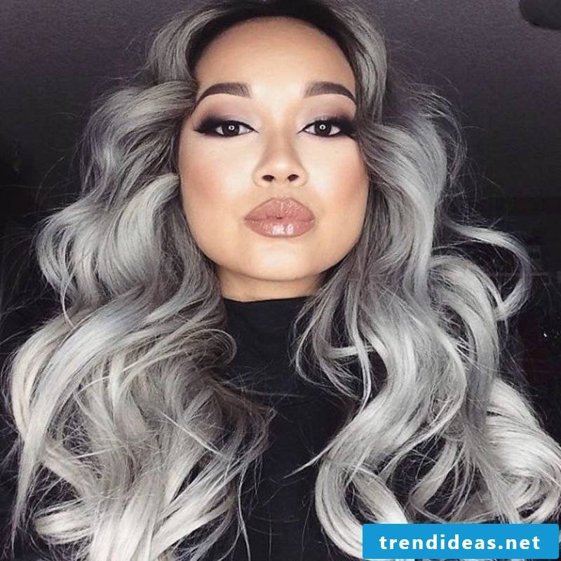 dye dark blond hair in gray